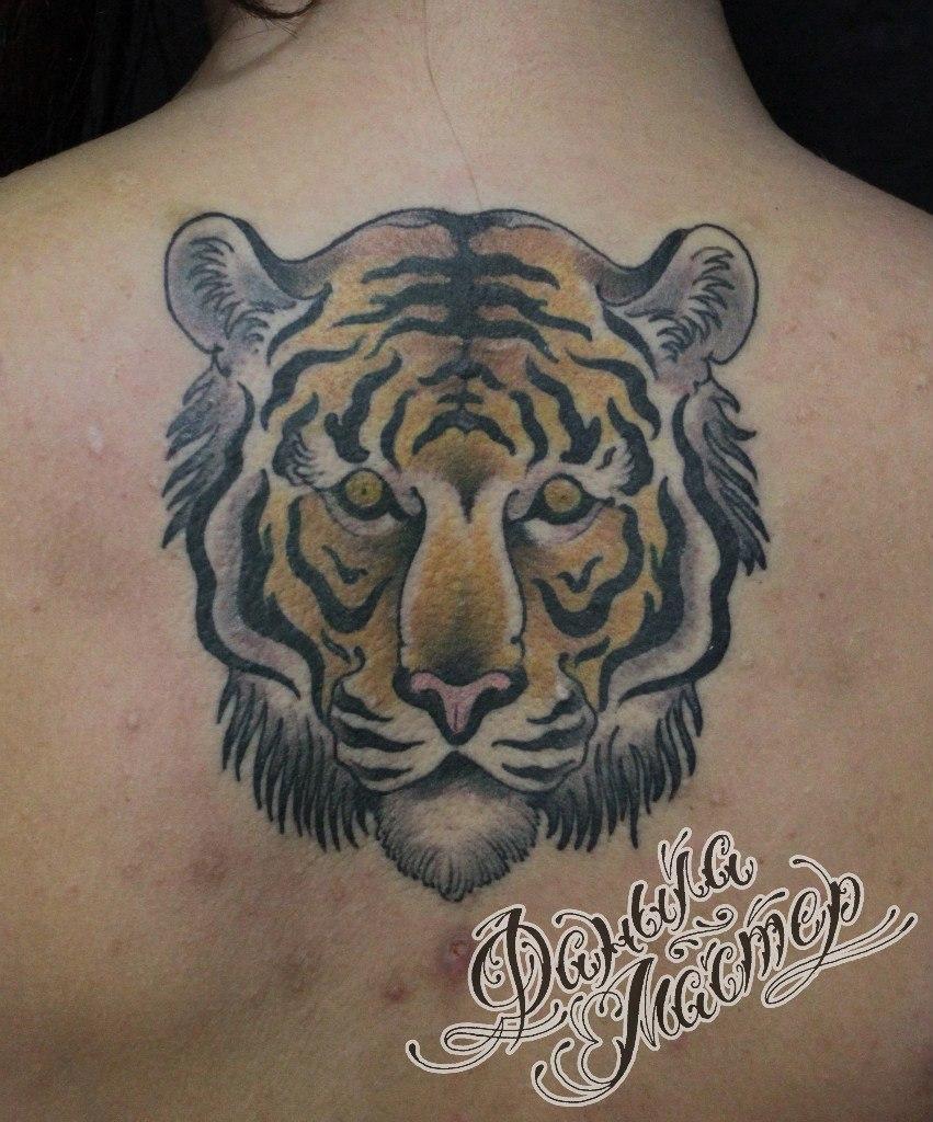 """Художественная татуировка """"Тигр"""" от Данилы-Мастера"""