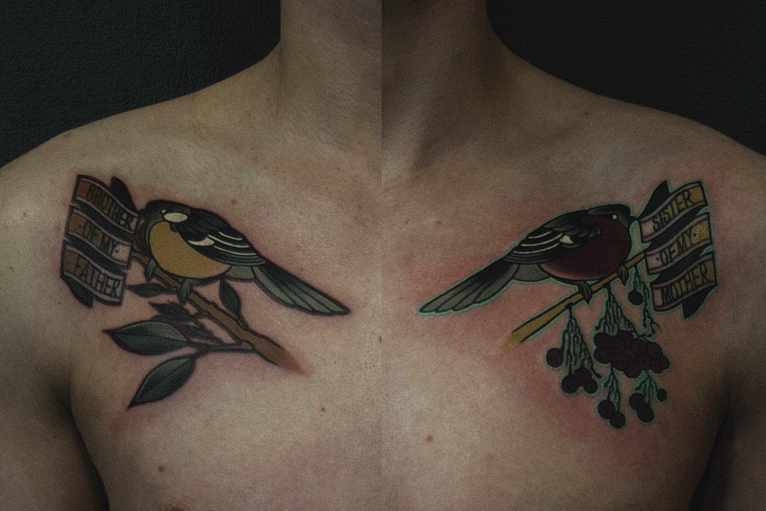 """Художественная татуировка """"Птицы"""" от Валеры"""