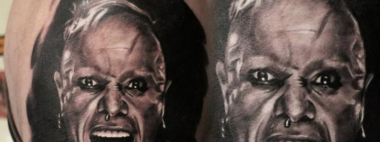 Художественная татуировка «Кит Флинт» от Александра Морозова