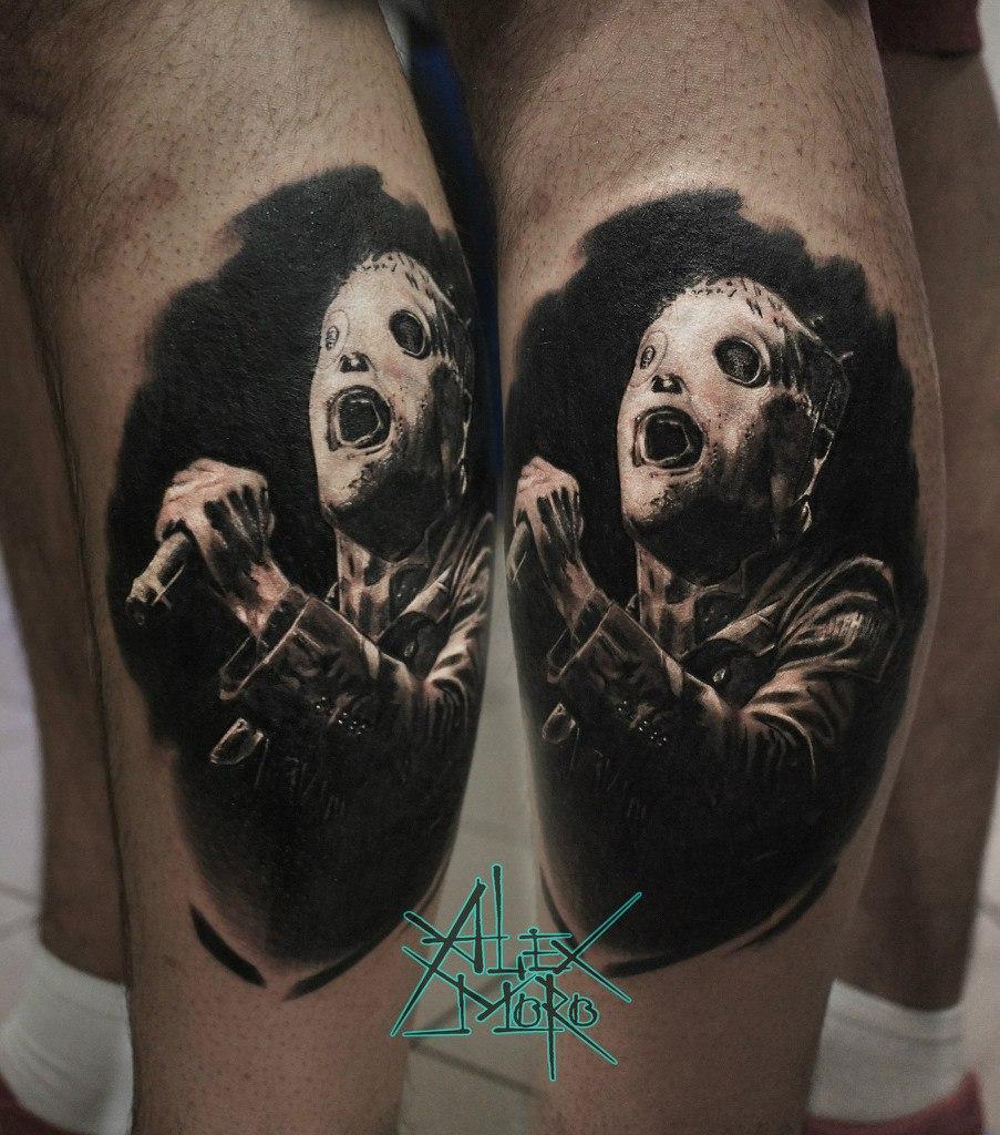 "Художественная татуировка ""Кори Тейлор"" от Александра Морозова"