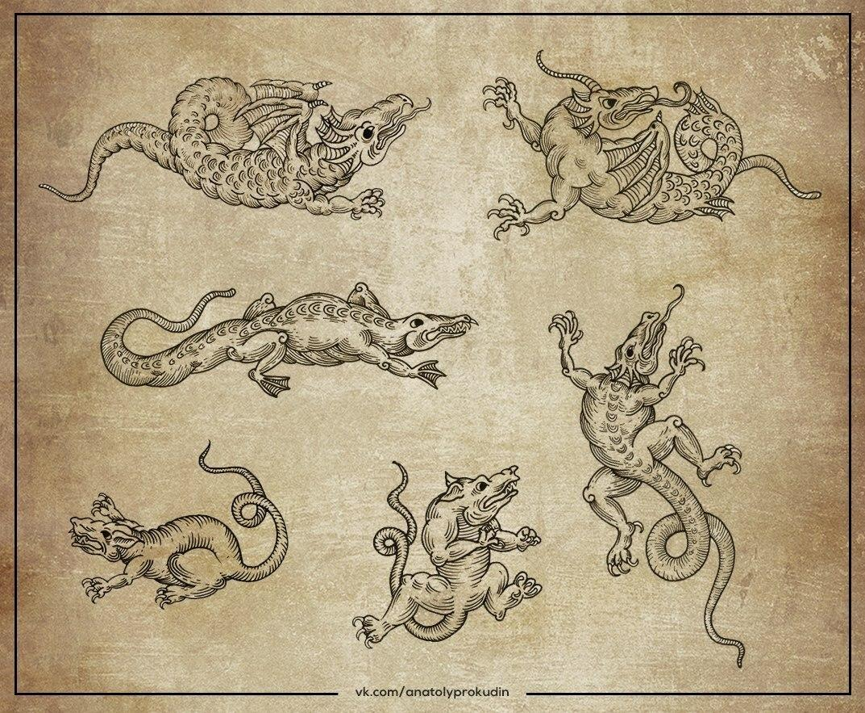 Свободные эскизы для миниатюр от Анатолия Прокудина.