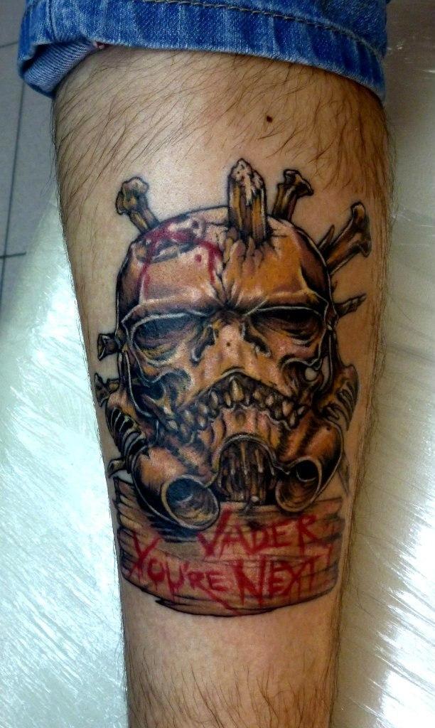 Художественная татуировка «Зомби». Мастер — Анна Корь