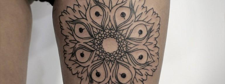 Художественная татуировка «Мандала». Мастер — Инесса Кефир