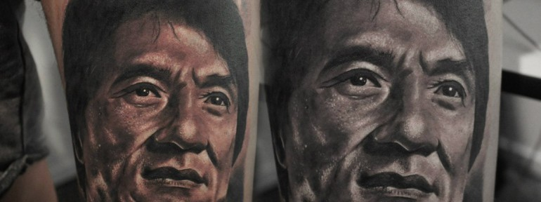 Портрет Джеки Чана от Александра Морозова.