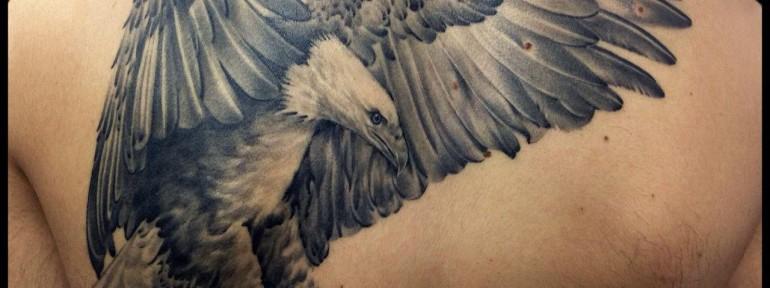 Художественная татуировка «Орёл» от Мадины