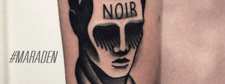 Художественная татуировка «Нуар». Мастер — Денис Марахин.