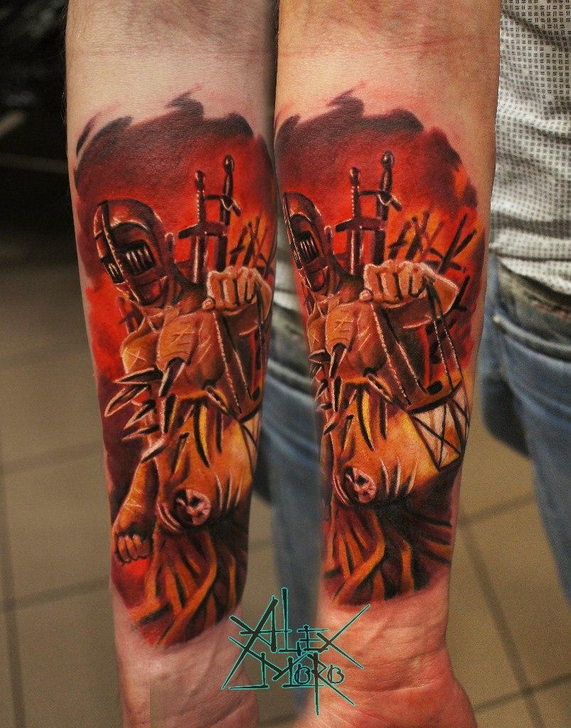 """Художественная татуировка """"Демон"""" от Александра Морозова"""