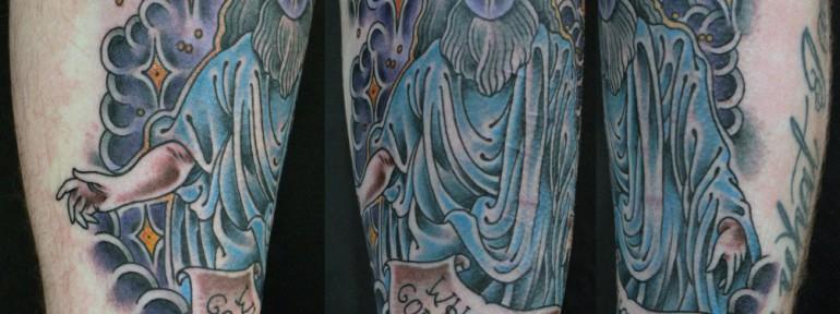 Художественная татуировка «Бог» от Данилы-Мастера