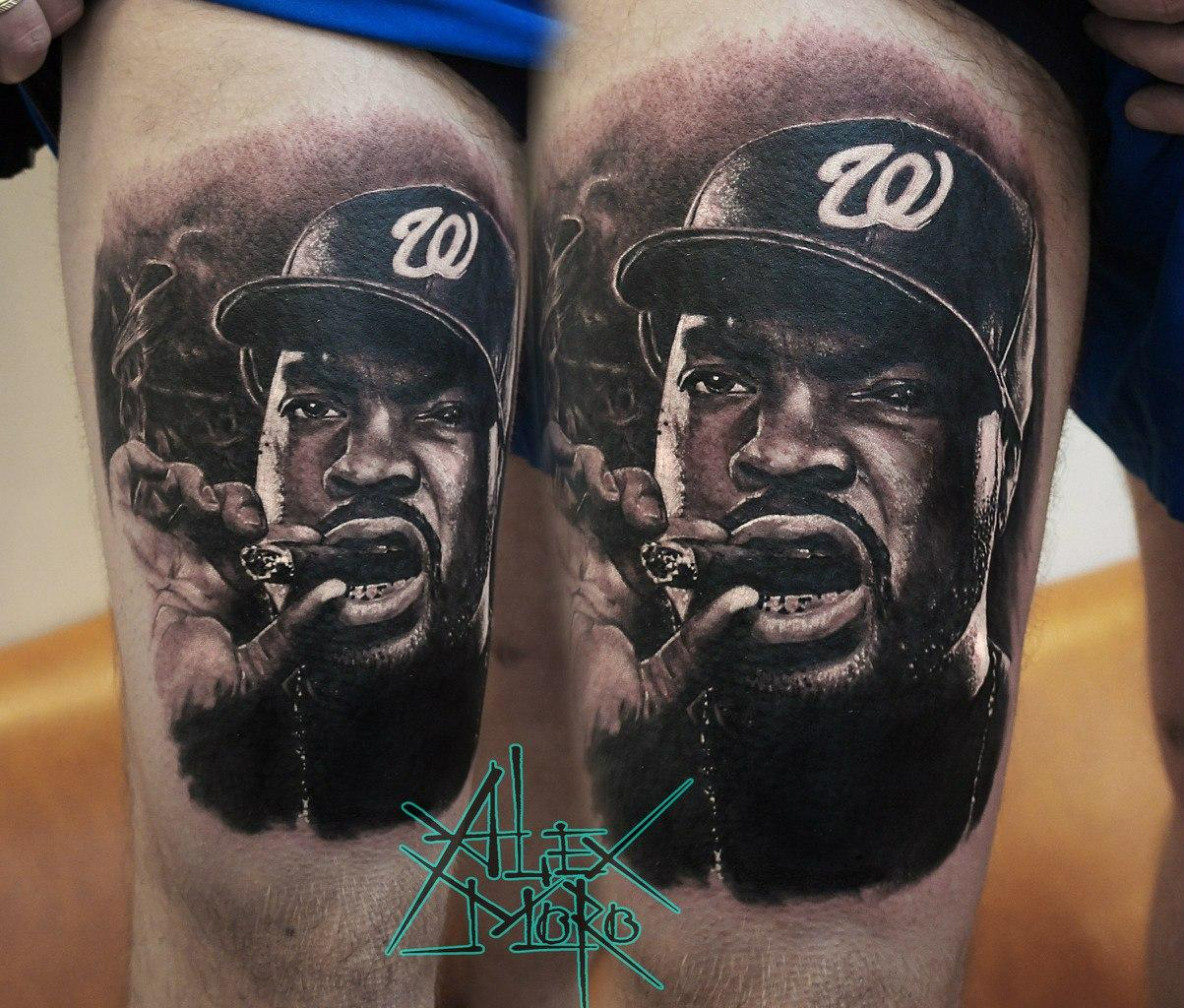 Портрет Ice Cube. Best of the day на II Уральском Фестивале Искусства Татуировки