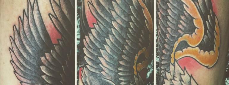 Художественная татуировка «орёл». Мастер Ил Берёза