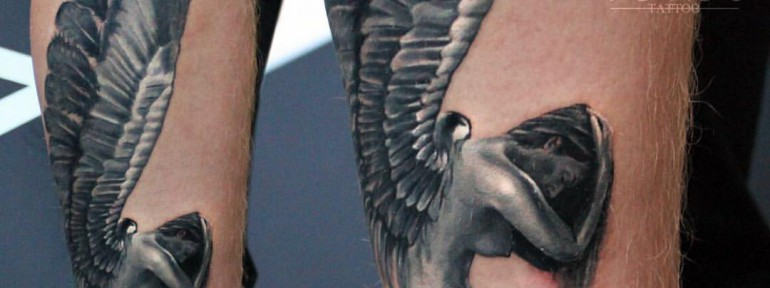 Художественная татуировка «Ангел». Мастер Ян Енот.
