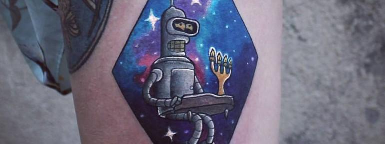 Художественная татуировка «Бендер». Мастер Настя Стриж.