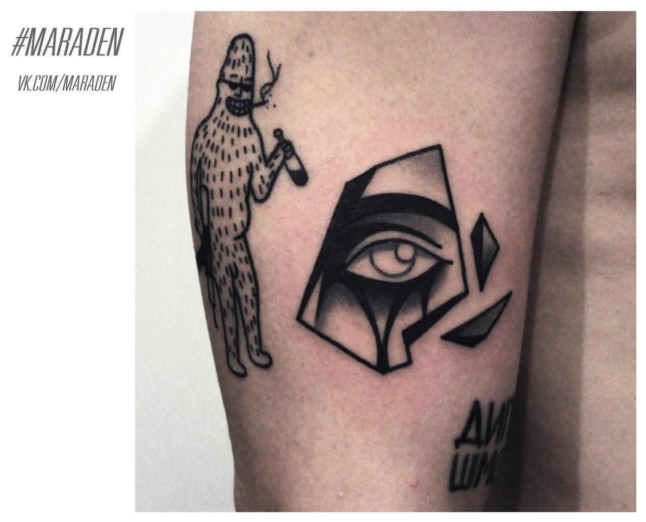 Художественная татуировка «Глаз». Мастер — Денис Марахин