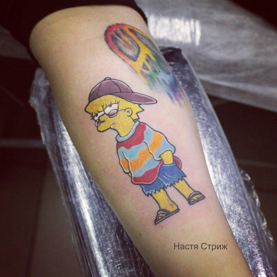"""Художественная татуировка """"Лиза"""". Мастер Настя Стриж."""