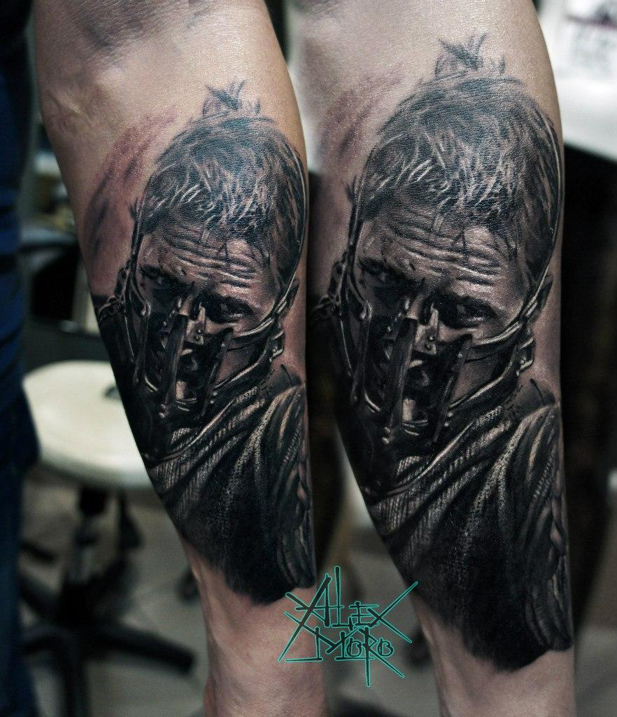 "Художественная татуировка ""Mad Max"" от Александра Морозова"