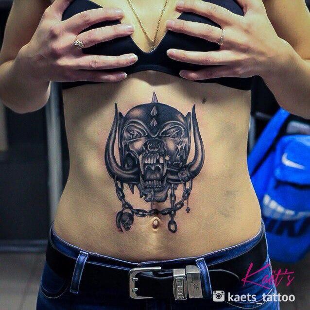 """Художественная татуировка """"Motorhead"""" от Берёзы"""