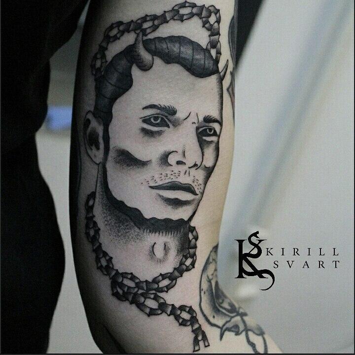 """Художественна татуировка """"Портрет"""". Мастер Кирилл Сварт."""