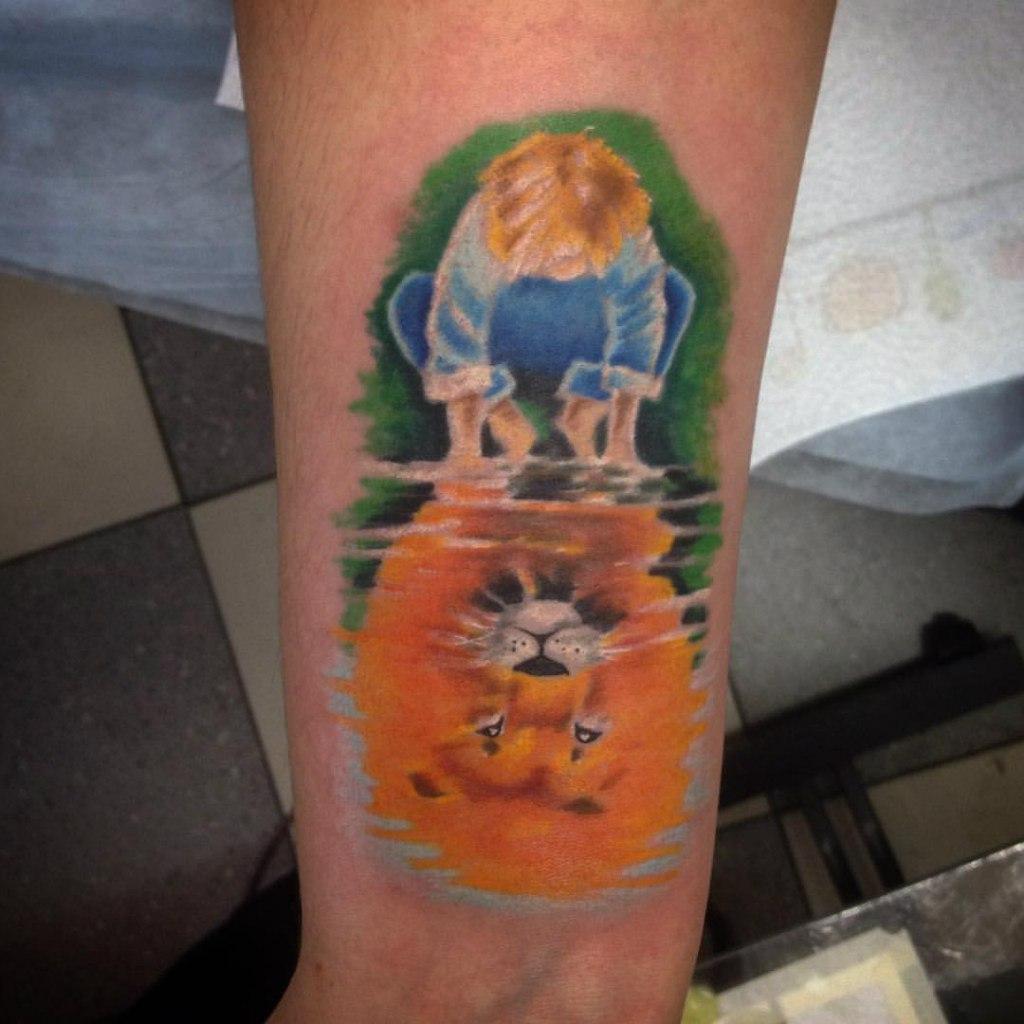 """Художественная татуировка """"Отражение"""" от Евгения Химика"""