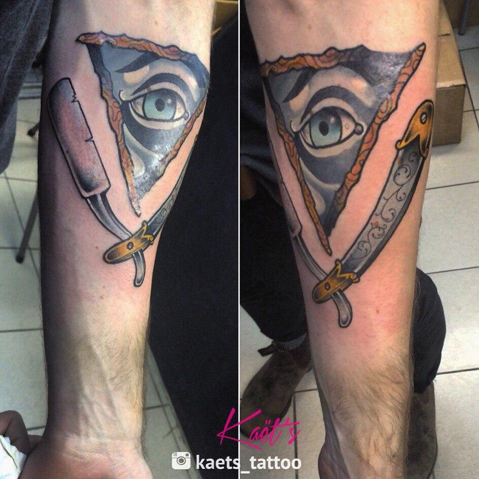 """Художественная татуировка """"Глаз"""" от Берёзы"""