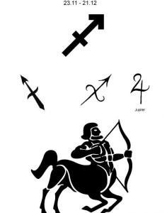 Тату знака Зодиака Стрелец