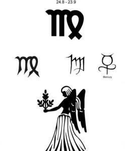 Тату знака Зодиака Дева
