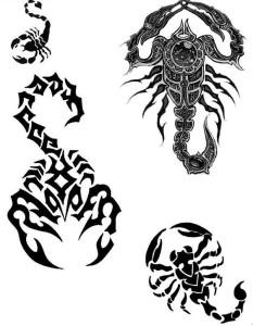 Тату знака Зодиака Скорпион
