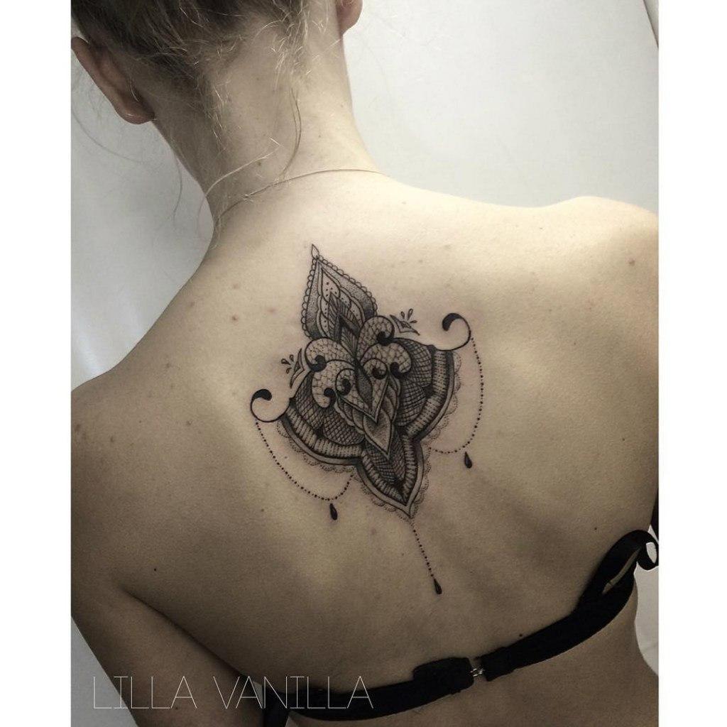 """Художественная татуировка """"Узор"""". Мастер- Лилия"""