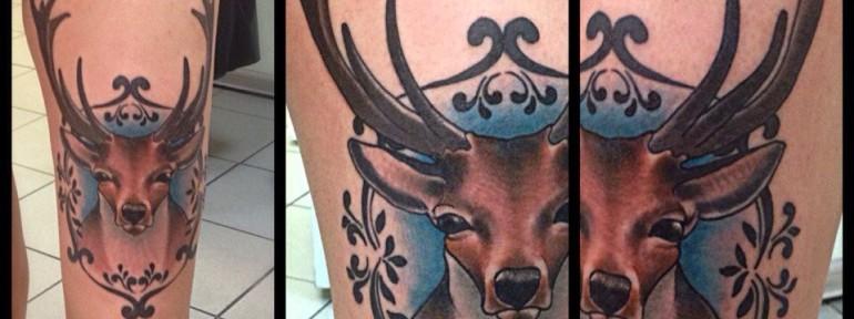 Татуировка олень — значение тату с оленем для мужчин и женщин