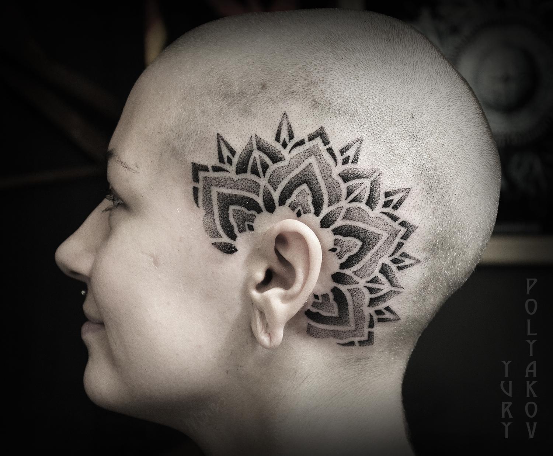 """Художественная татуировка """"Мандала"""" от Юрия Полякова"""