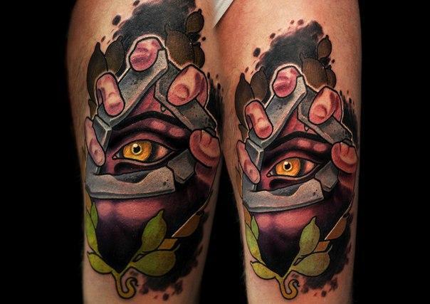 Художественная татуировка «Глаз» от Димы Поликарпова.