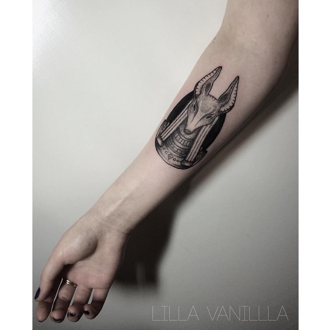 """Художественная татуировка """"Анубис"""". Мастер- Лилия"""