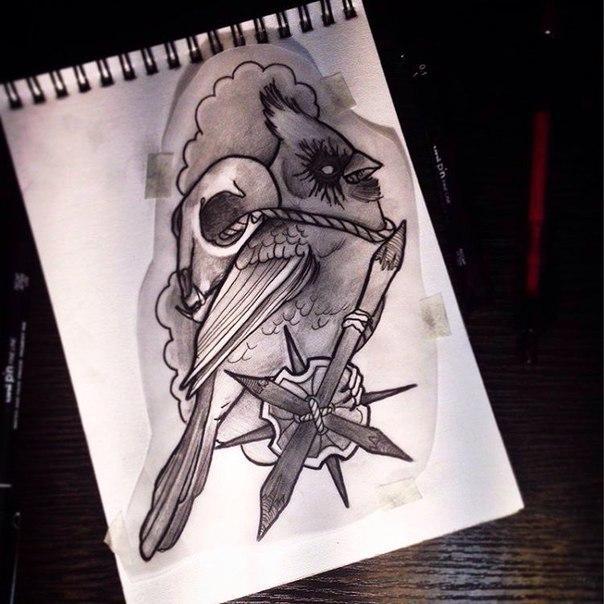 Эскиз «Птица» от Димы Поликарпова.
