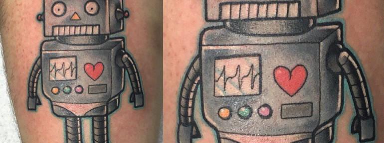 Художественная татуировка «Робот». Мастер- Ил Берёза