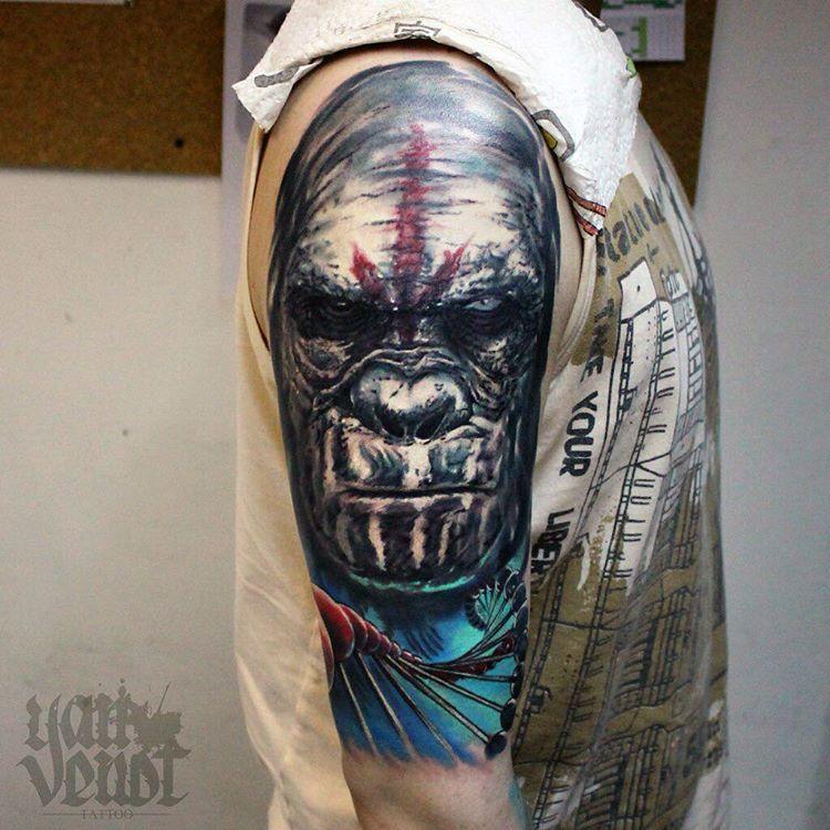 Художественная татуировка «Горилла». Мастер Ян Енот