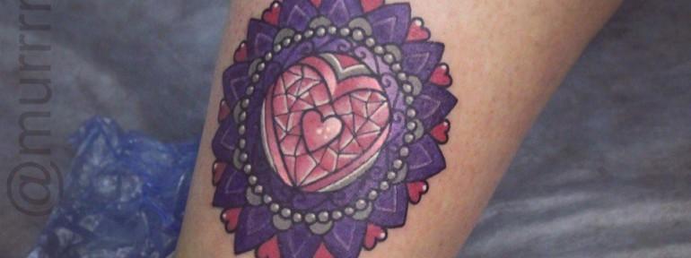 Художественная татуировка «Мандала». Мастер Настя Стриж