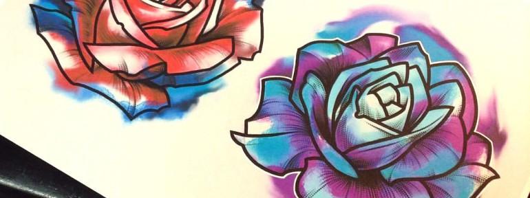 Свободный эскиз «Розы». Мастер Ян Енот