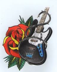 Разработка эскиза тату с гитарой по заказу клиента. ВРЕМЕНИ НА РАЗРАБОТКУ ЭСКИЗА УШЛО 3 ЧАСА