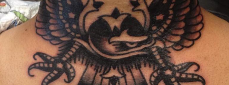 Художественная татуировка «Орел» от Вовы Meatshit