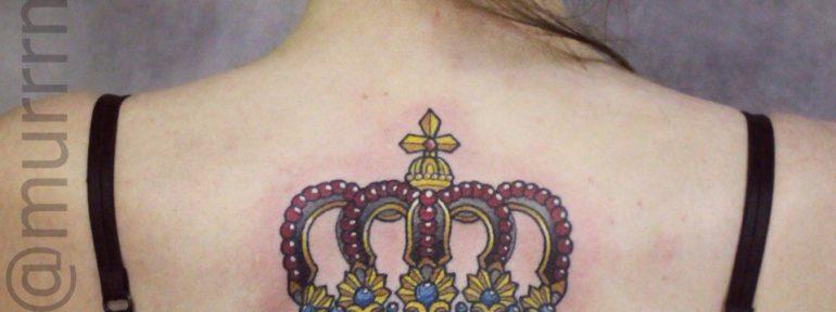 Художественная татуировка «Корона».Мастер Настя Стриж.