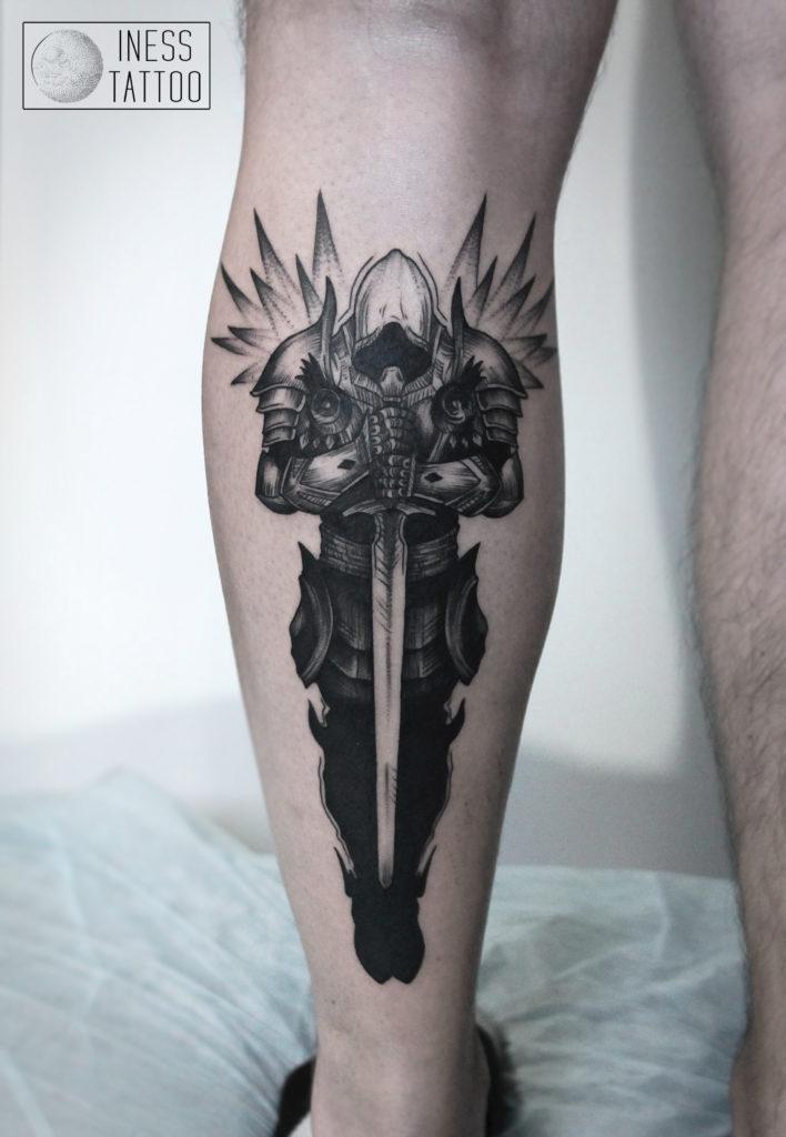 """Художественная татуировка """"Тираэль"""" по игре Diablo 3"""