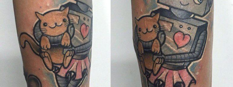 Художественная татуировка «Робот». Мастер Ил Берёза