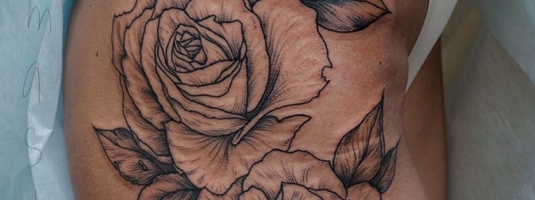 Художественная татуировка «Розы». Мастер Дданил Костарев.