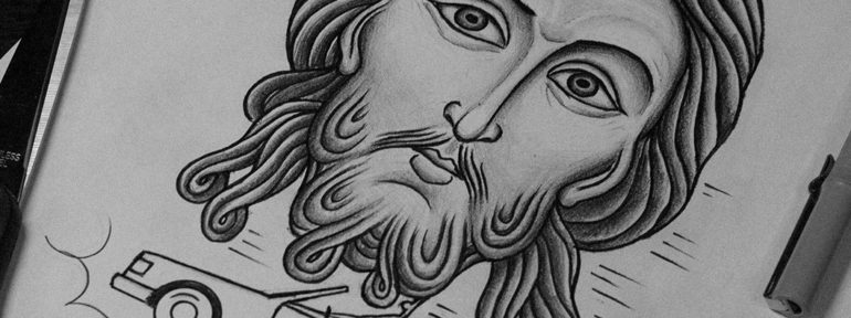 Свободный эскиз «Творец». Мастер Даня Костарев