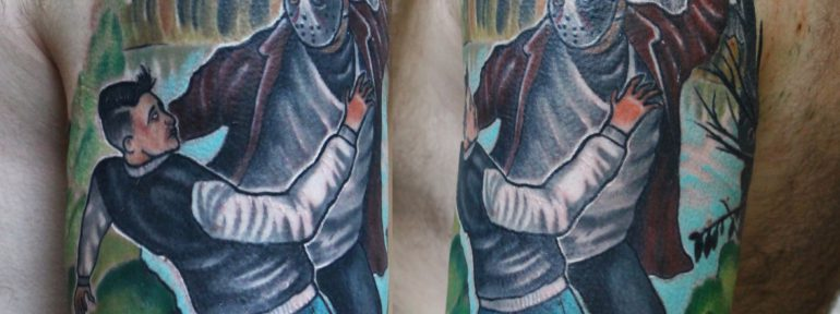 Художественная татуировка «Джейсон». Мастер Дима Поликарпов.