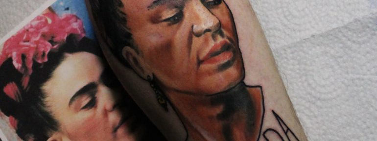 Художественная татуировка «Фрида». Мастер Дима Поликарпов