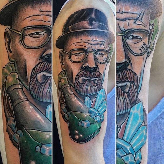 Художественная татуировка «Уолтер Уайт». Мастер Руслан Тавакалов