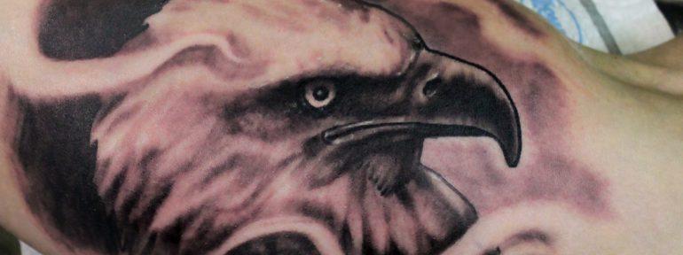 Художественная татуировка «Орёл». Мастер Дима Поликарпов