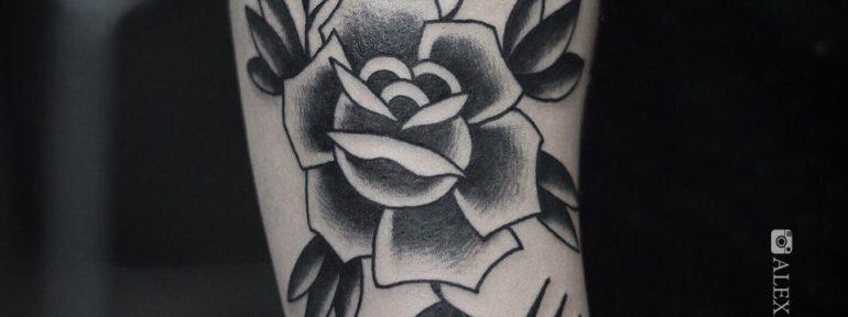 Художественная татуировка «Роза». Мастер- Александр Бахаревич.