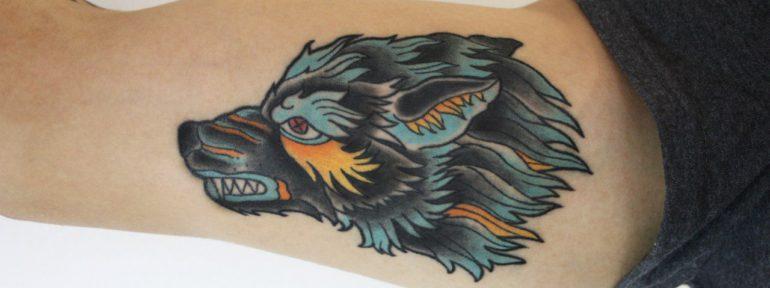 Художественная татуировка «Волк». Мастер Фоля Fo.
