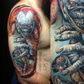 """Художественная татуировка """"обложка альбома iron maiden"""". Мастер Берёза"""